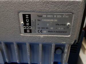 BUSCH RB-0021-B3Z4-ATXX  SINGLE STAGE ROTARY VANE VACUUM PUMP €1000 Net Price