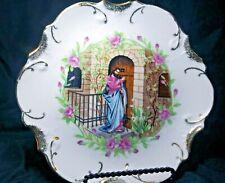 """Vintage Jesus Knocking on Door Decorative Plate 7 1/2"""" 18 K Gold Trim-Japan"""