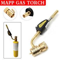 Mapp Gas Self Ignition Plumbing Turbo Torch Propane Solder Brazing Welding Tool