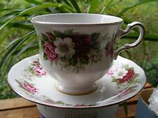 """Tea Cup and Saucer: """"Queen Anne"""" English Fine Bone China from England"""