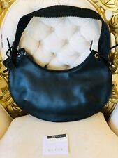 Authentic GUCCI shoulder bag purse hobo black