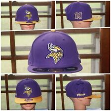 NFL New Era Minnesota Vikings NFC North Snapback Fitted Hat Cap  7 1/4 3/8 3/4