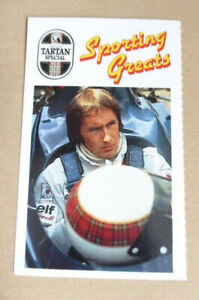 JACKIE STEWART F1 CARD YOUNGERS TARTAN SPECIAL SPORTING GREATS 1989 SCARCE