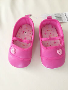 NEW Baby Girl Hot Pink Casual Ballerina Shoes, size 3-6-9-12 month size 2.3.4