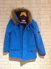 Boys GLACIER POINT Blue Winter Parka Coat ,Fleece Lined,Fur Hood,Age 13 Yrs