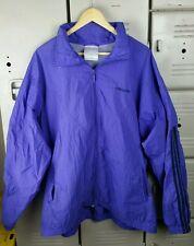 Vtg ADIDAS Windbreaker NYLON Shell JACKET Hidden HOOD Vented Purple Men's Sz XL