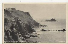 View From Lands End Point Cornwall Vintage Postcard 297a