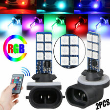 2PCS Fog Lights 881 5050 Colorful LED RGB Car Headlight Lamp Bulb Accessories US