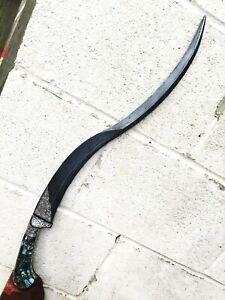 Thick Yatagan Yataghan Damascus blade Dagger sword Silver on handle N Shamshir