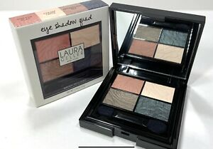 Laura Geller Eye Shadow Quad Neutral & Bold (Vintage Clay,Hyde Park Green) New