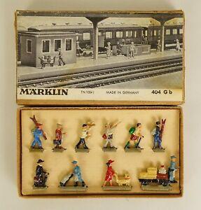 MARKLIN #404Gb HO SCALE DIE-CAST RAILROAD WORKMEN FIGURES #2-NEAR MINT IN OB!