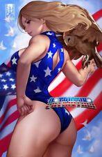 Patriotika #1 Artgerm Homage Topless Virgin Ltd 50 Nm