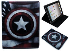 For Apple iPad 2 3 4 Captain America Marvel DC Smart Stand Case Cover Sleep Wake