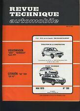 (33A) REVUE TECHNIQUE AUTOMOBILE CITROEN GS 1130 et X3 / VW GOLF SCIROCCO