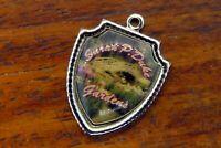 Vintage silver SARAH P. DUKE GARDENS NORTH CAROLINA TRAVEL SHIELD charm #E34
