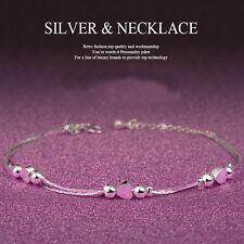 New Women Silver Rhinestone Love Heart Bangle Cuff Bracelet Jewelry