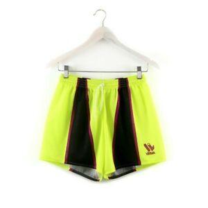 90s VIRMA vintage shorts nylon running gym unisex rad neon yellow S M