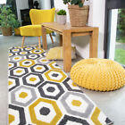 Honeycomb Ochre Area Rug Small Large Rugs For Living Room Geometric Hall Runners