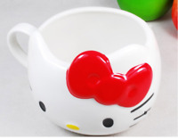 Hello Kitty Ceramic Cup Tea Milk Coffee Mug red Bowknot lovely Girl gift!