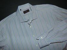ETRO Button Front Shirt ~ XL ~ Italian Size 43 ~ Striped ~ Long Sleeves ~ Italy