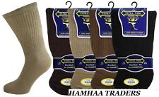 Mens Quality Diabetic EXTRA WIDE Non Elastic Socks with Hand Linked Toe Seam 3pp