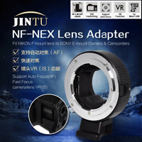 JinTu Auto Focus NF-NEX AF Adapter for Nikon F Mount Lens to Sony E Mount Camera
