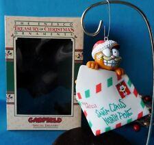 Enesco Garfield Ornament Special Delivery In Box