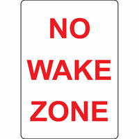 Aluminum Vertical Metal Sign Multiple Sizes No Wake Zone Weatherproof Street