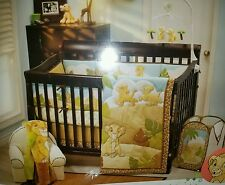 LION KING SIMBA 4 PC CRIB BEDDING SET-WALL DECOR+MUSICAL MOBILE+ HAMPER