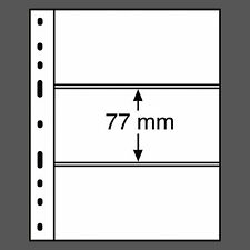 Kunststoffhüllen Leuchtturm OPTIMA 3C, 3er Einteilung KLAR, 10er Pack (317 839)