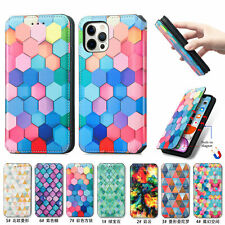 Colorful Magnetic Wallet Phone Case For iPhone 11 12 Pro XS Max XR X 6 7 8 Plus