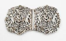 More details for fine victorian sterling silver nurses buckle birmingham 1893 cherub design