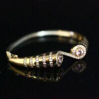 925 Sterling Silver Handmade Authentic Turkish Quartz Bracelet Bangle Cuff