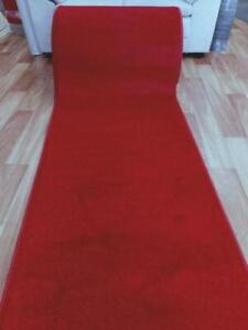 Red Wedding Event Washable Carpet Runner Rolls by the Meter 80, 100 or 120cm Wid