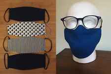 Men's Face Mask Nose Wire, Great for Glasses 100% High Quality Cotton Anti Fog