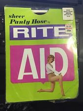 Exciting! Vintage Rite Aid black nude med pantyhose w/ model ..