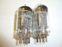 Pair of 12AX7 Tubes, Long Grey Plate, By RCA, One Labelled Westinghouse