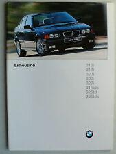 Prospekt BMW 3er E36 Limousinen 316i,318i/tds,320i,323i,328i,325td/tds/M3,2.1996