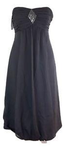 Ladies Monsoon Silk Dress Size 8 Grey Sweetheart
