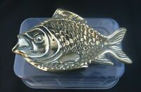 Vintage Solid Brass Fish Soap Dish Trinket Dish Ashtray
