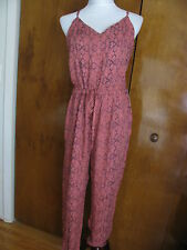 Free People women's tomato comb rayon romper size large NWT