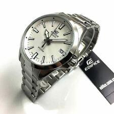 Men's Casio Edifice Silver Stainless Steel Blue Dial Watch EFV100D-7AV