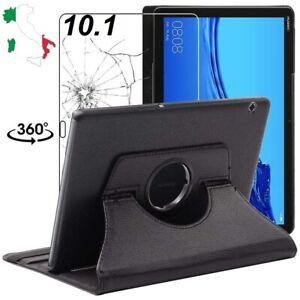COVER CUSTODIA per Huawei MediaPad T5 10.1 INTEGRALE 360° con Vetro Temperato