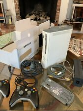 Microsoft Xbox 360 Pro System Bundle 60Gb White Console with 2 Controllers
