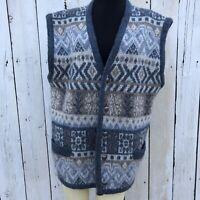 icewear sweater Wool Vest Blue Nordic Fair Isle