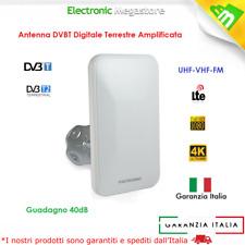 Metronic Antenna TV Uhf/vhf/fm Esterna Amplificata Digitale terrestre 415991