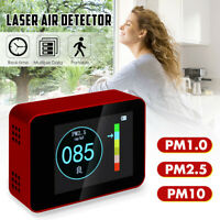 Portable Laser PM1.0 PM2.5 PM10 Detector Home Office Car Air Quality LCD Tester
