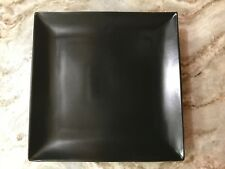 Black Trilogy Square Dinner Plates 10.75 Inches. Matte Finish Set Of 4. New.