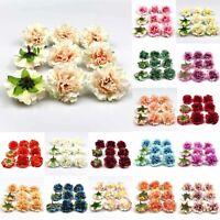 20Pcs Artificial Peony Flower Heads Silk Fake Bouquet Floral Wedding DIY Decor