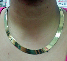10KT Solid Yellow Gold Herringbone 10mm Thick 22 inch Length Necklace